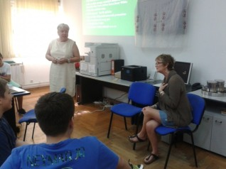 Meeting secondary school students, Medulin, Croatia